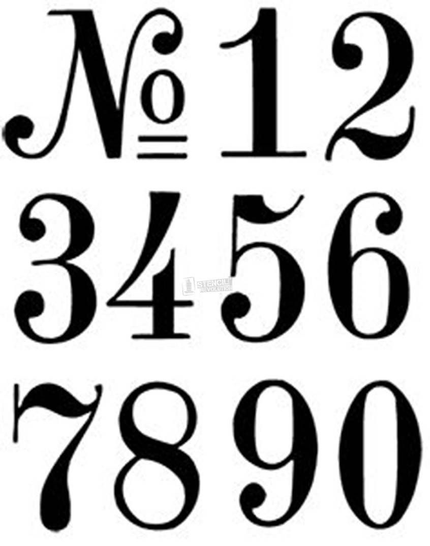 Number Stencils   Crafts   Pinterest   Number Stencils, Letter - Free Printable Number Stencils