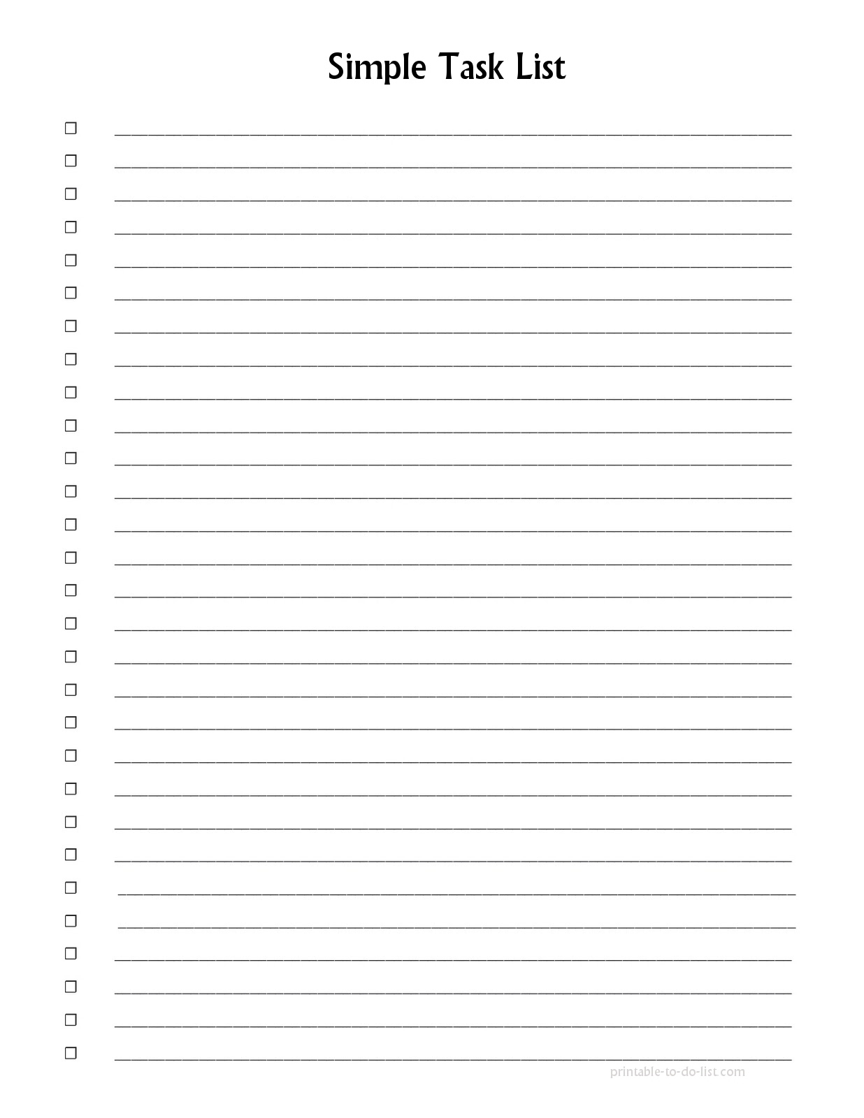 Numbered List Printable   List And Format Corner - Free Printable Numbered List