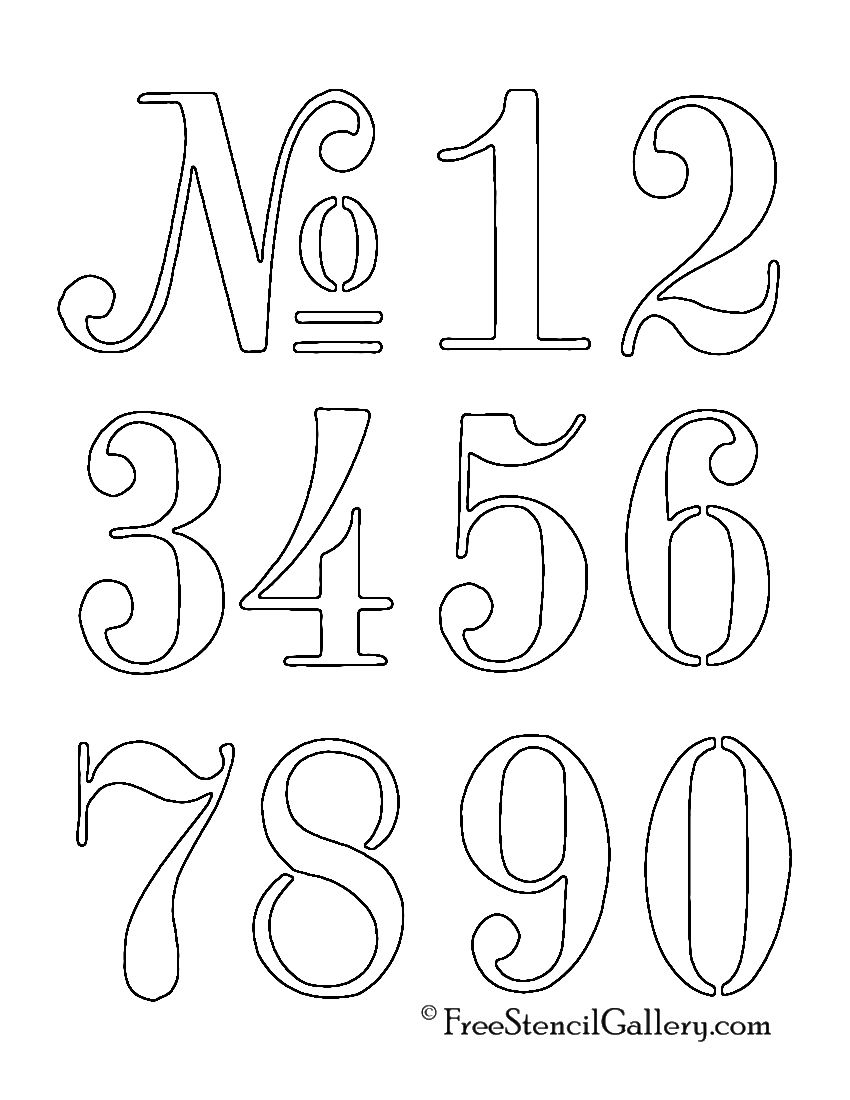 Numbers Stencil …   Outdoor Decor   Stenc… - Free Printable Number Stencils