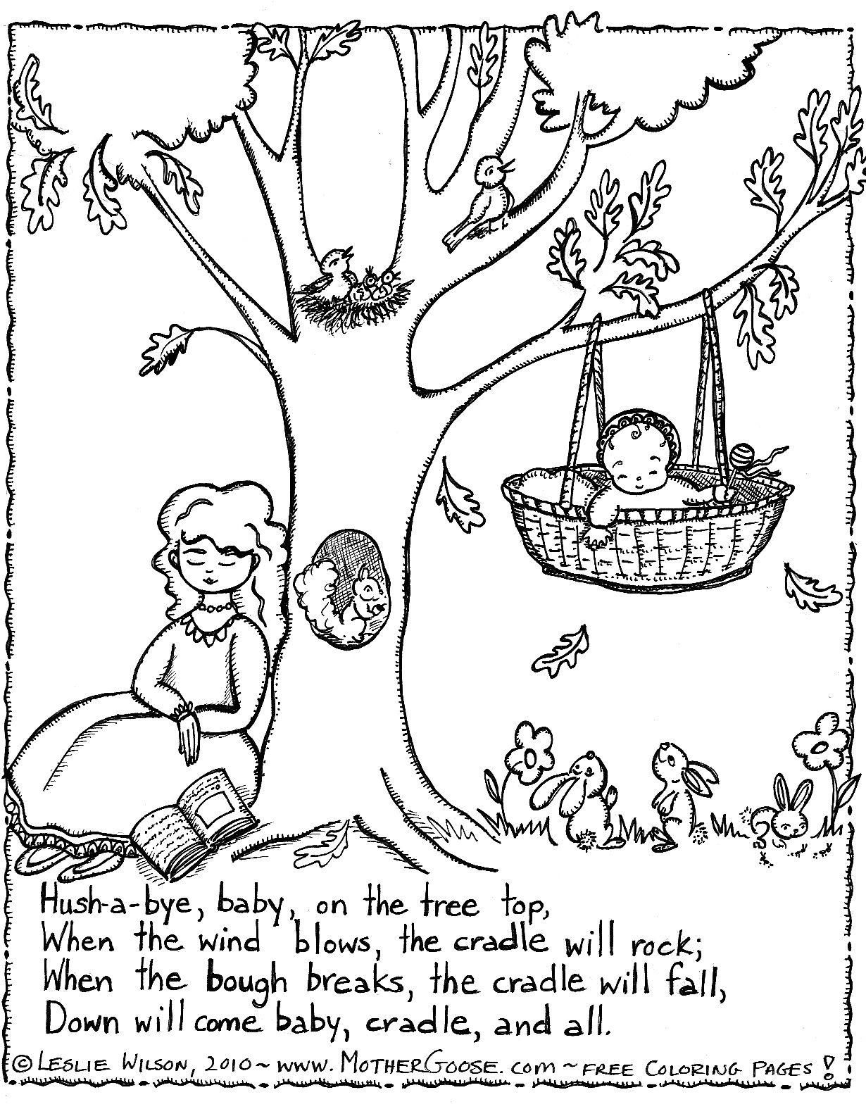Nursery Rhyme Coloring Page | Teaching - Nursery Rhymes/mother Goose - Free Printable Mother Goose Nursery Rhymes