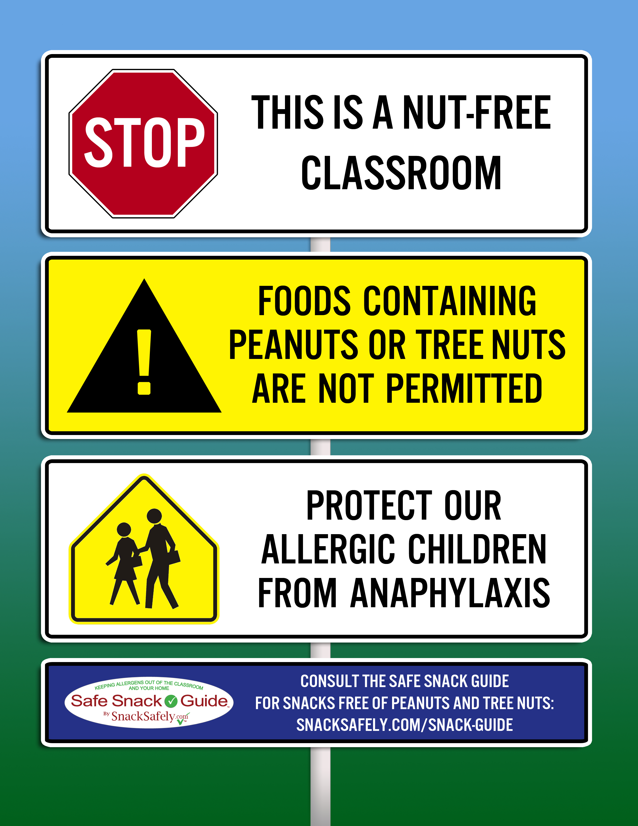 Nut-Free Notice Graphics For Your School | Snacksafely Articles - Printable Peanut Free Classroom Signs