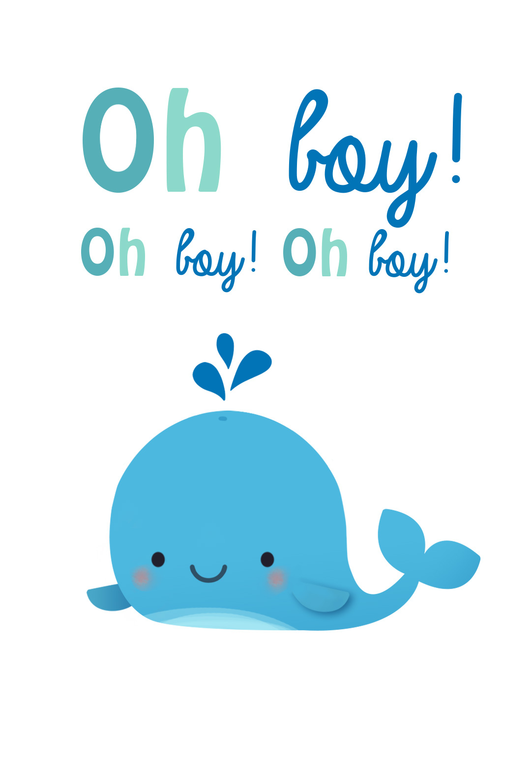 Oh Boy - Free Baby Shower & New Baby Card | Greetings Island - Free Printable Baby Boy Cards