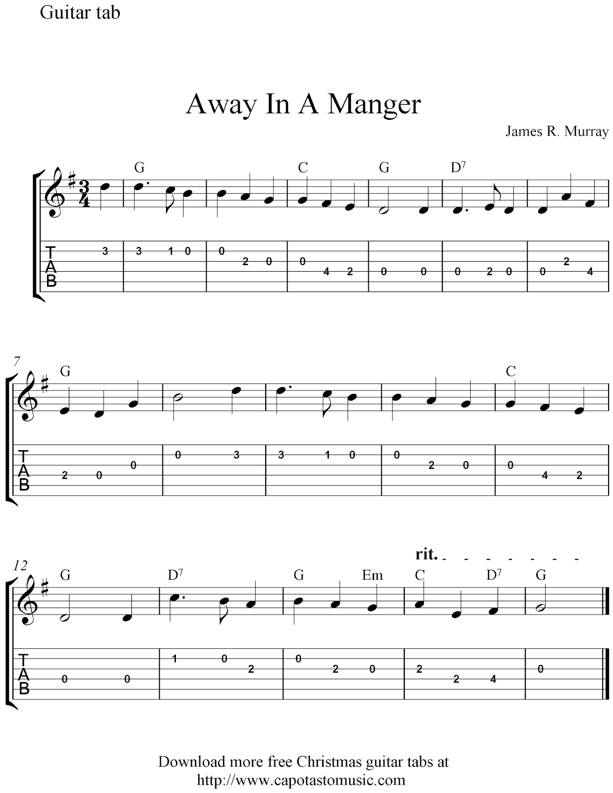 On This Site You Can Download Free Printable Sheet Music Scores And - Free Printable Guitar Music