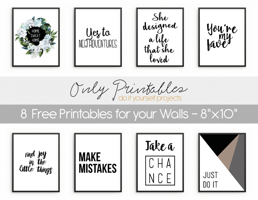 Only Printables | Wall Art - Free Printable Wall Art