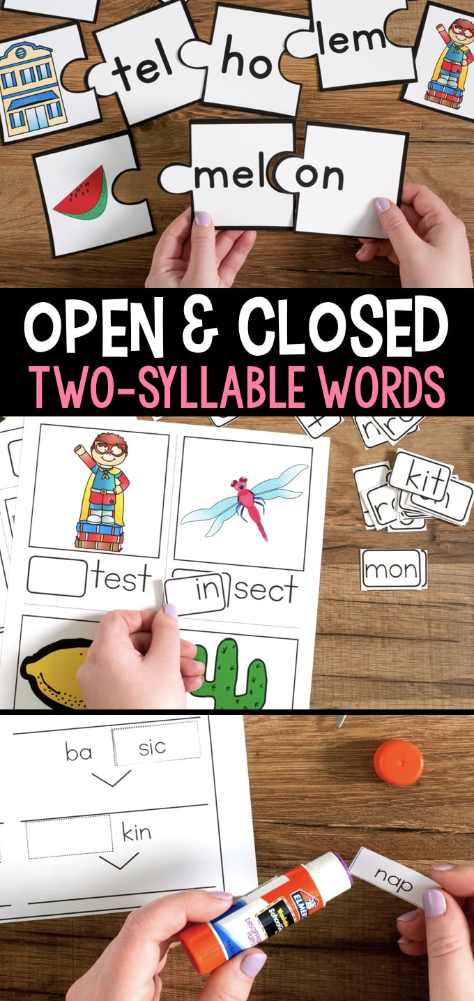Open And Closed Syllables Games And Activities - Free Printable Open And Closed Syllable Worksheets