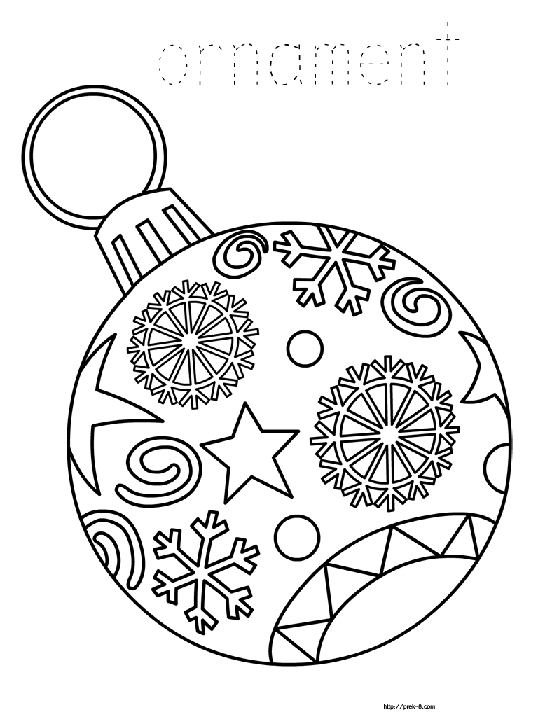 Ornaments Free Printable Christmas Coloring Pages For Kids | Paper - Free Printable Christmas Ornaments