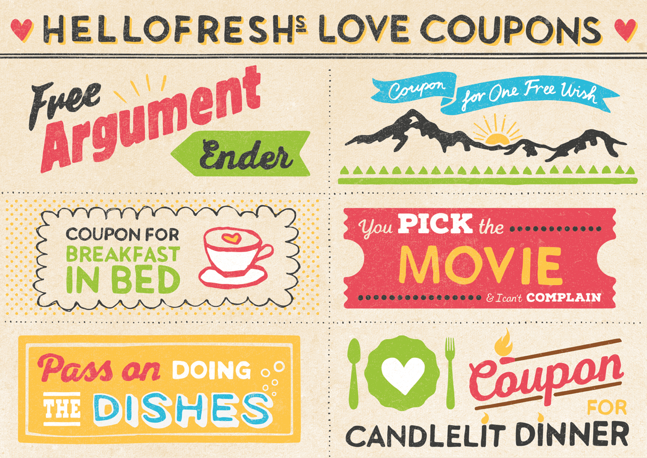 Our Cuter-Than-Cute Printable Love Coupons | Hellofresh Food Blog - Free Printable Love Coupons