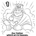 Our Father Which Art In Heaven, Hallowed Be Thy Name Coloring Page   Free Printable Lord's Prayer Coloring Pages