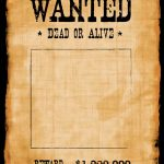 Outlaw Wanted Poster Stock Photos Retro In Wild West Style Just Put   Wanted Poster Printable Free