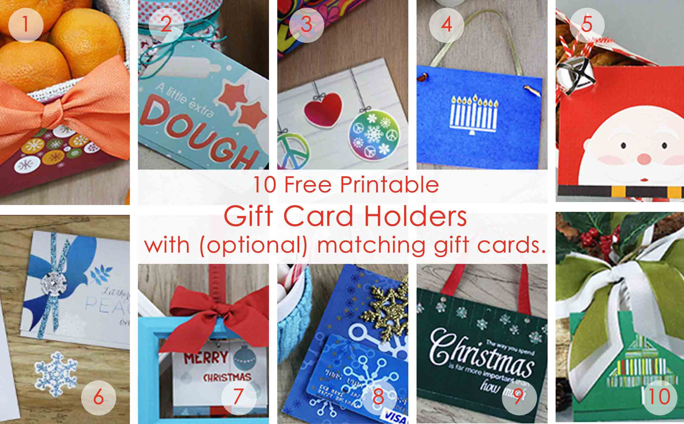 Over 50 Printable Gift Card Holders For The Holidays | Gcg - Free Printable Gift Card Envelope Template