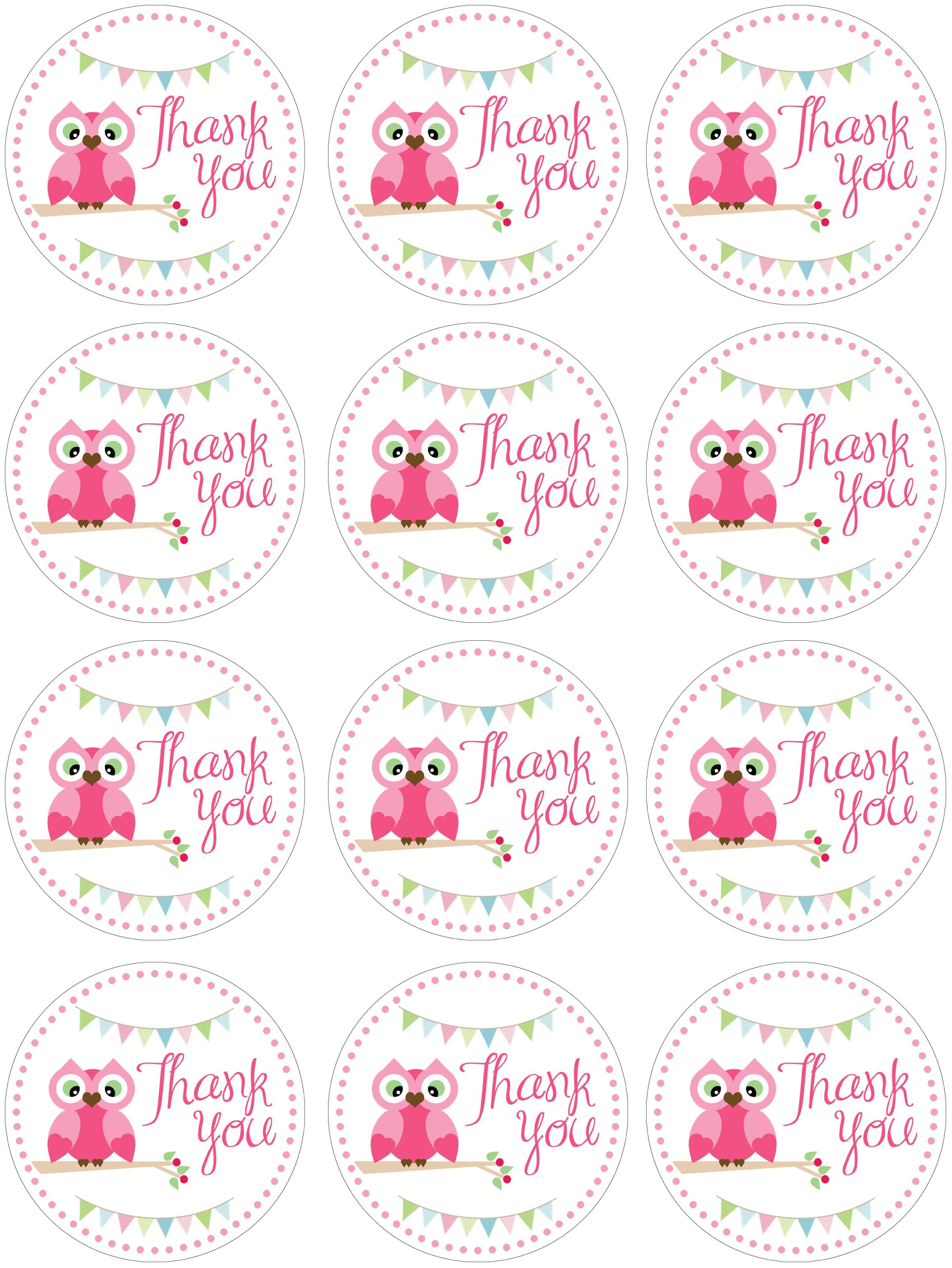 Owl Birthday Party With Free Printables | תגיות -Labels - Free Printable Thank You Tags For Birthday Favors