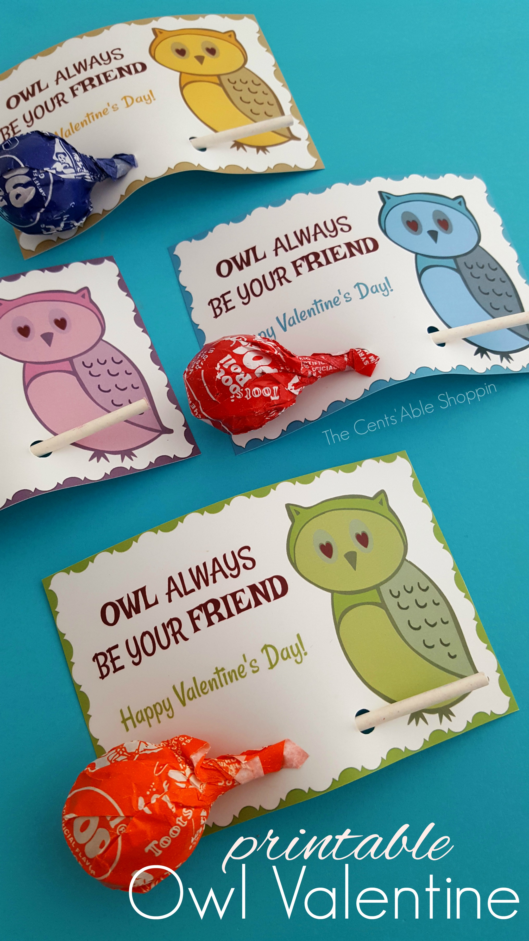 Owl Printable Valentine's Day Cards – The Centsable Shoppin - Free Printable Owl Valentine Cards