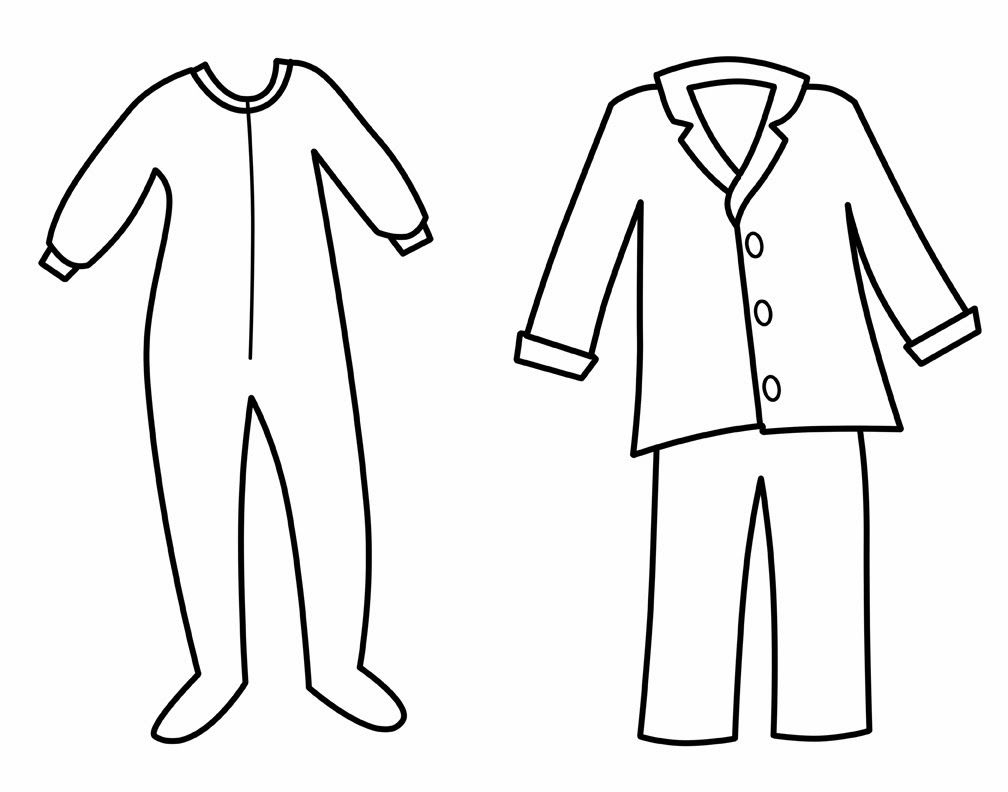 Pajamas Colouring Pages ( Page 2) | January Craft And Worksheets For - Free Printable Pajama Coloring Pages