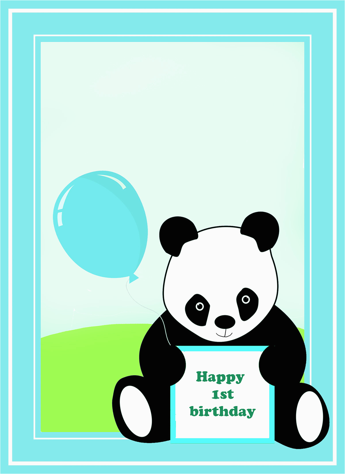 Panda Birthday Card Template   Birthdaybuzz - Panda Bear Invitations Free Printable