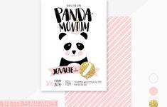 Panda Bear Invitations Free Printable