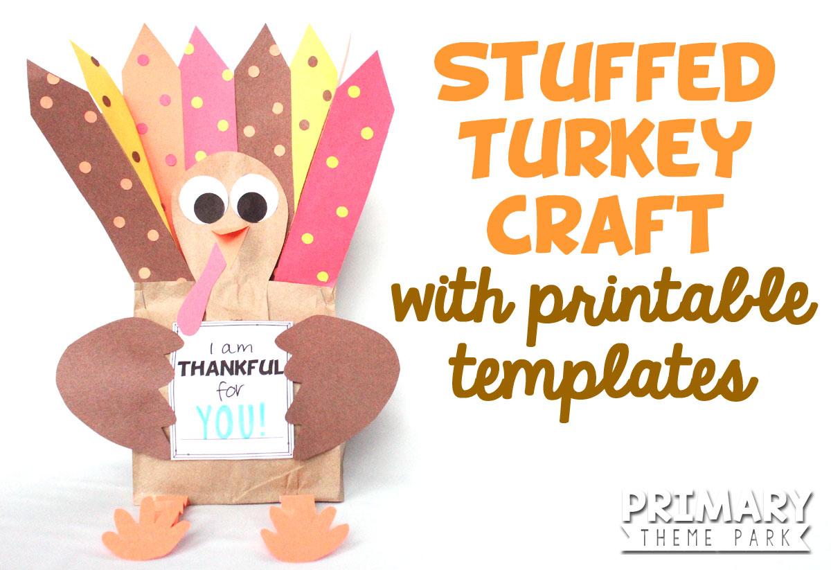Paper Bag Turkey Craft - Primary Theme Park - Free Printable Turkey Craft