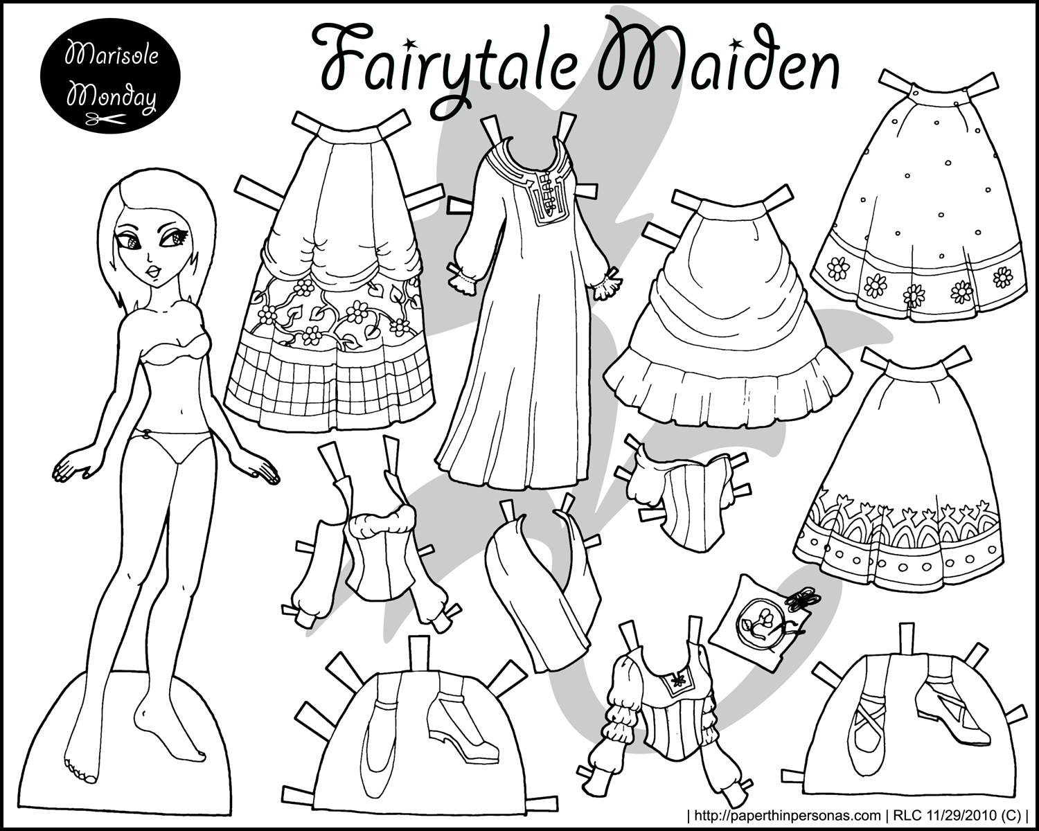 Paper Doll Color Pages | Coloring Pages - Free Printable Paper Doll Coloring Pages