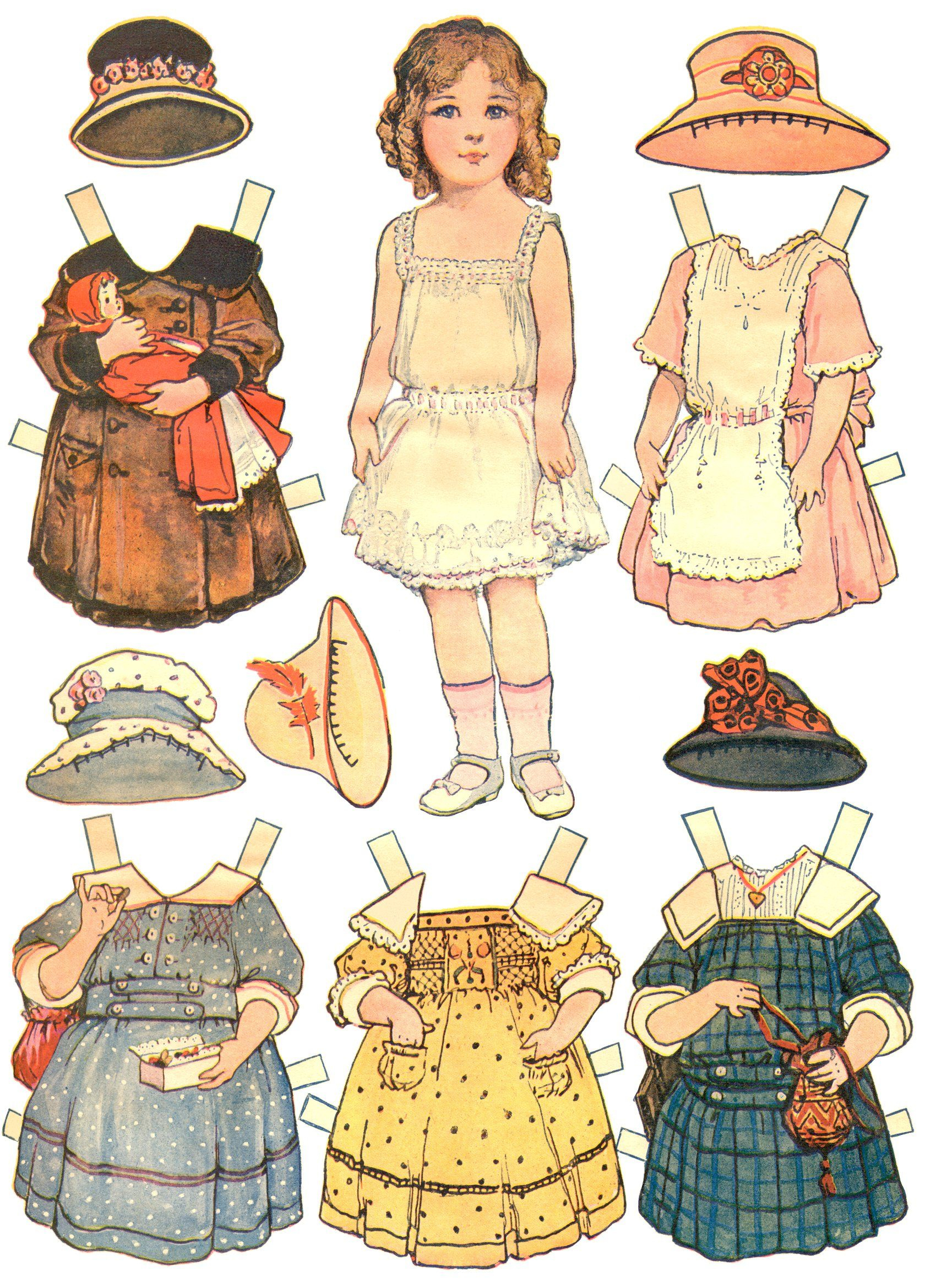 Paper Dolls And Paper Doll Dresses – Printable From Kid Fun - Free Printable Paper Dolls