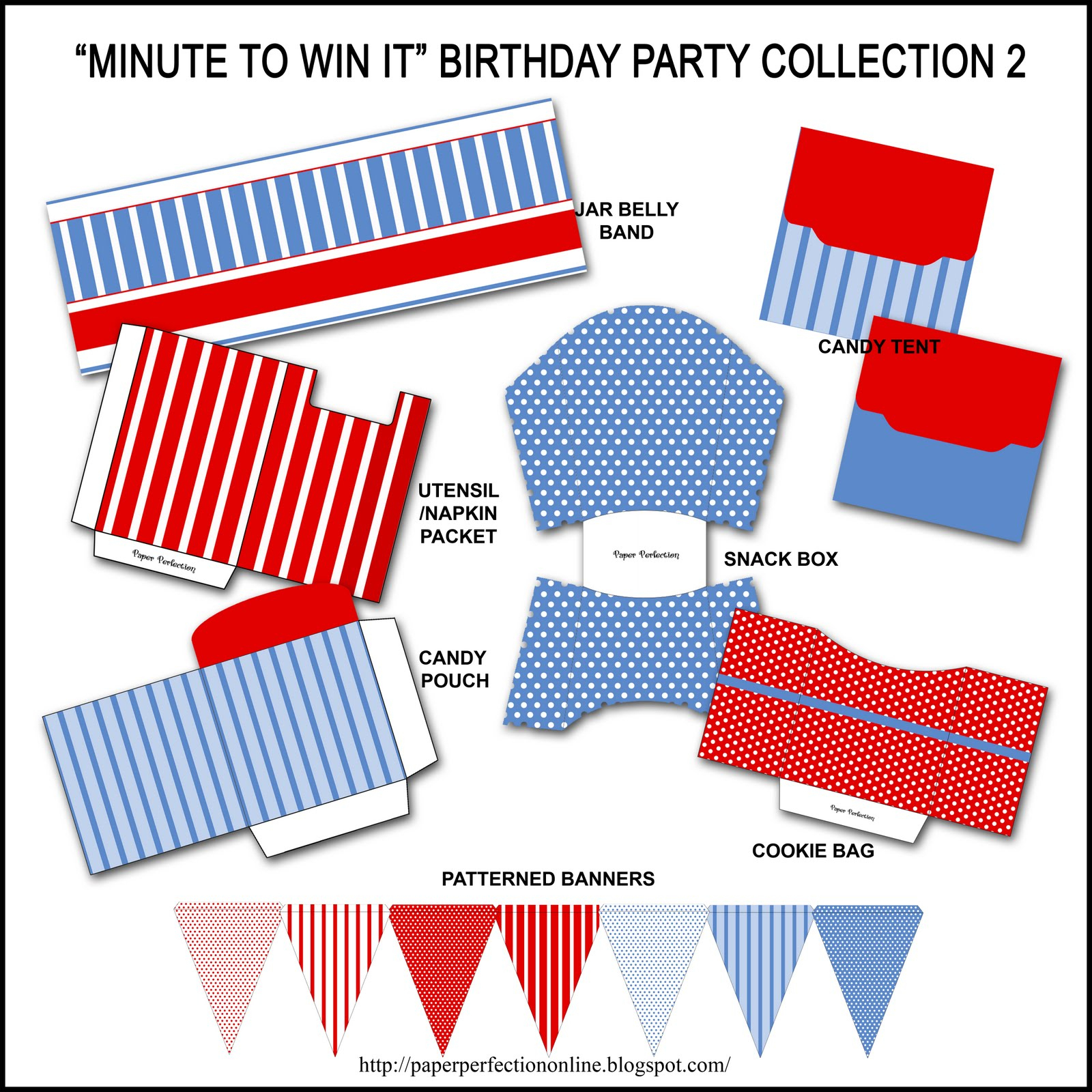"Paper Perfection: Free ""minute To Win It"" Birthday Party Invitation - Free Printable Minute To Win It Invitations"