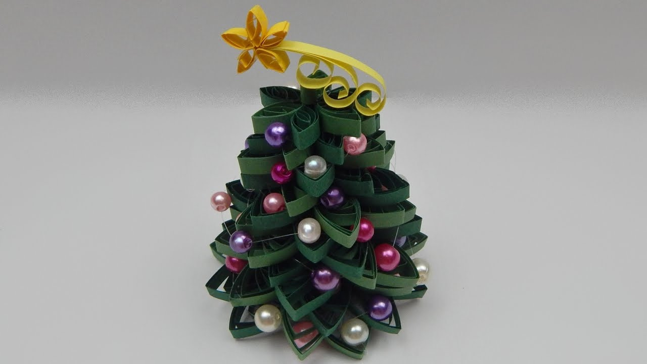Paper Quilled Christmas Trees - Red Ted Art's Blog - Free Printable Quilling Patterns Designs