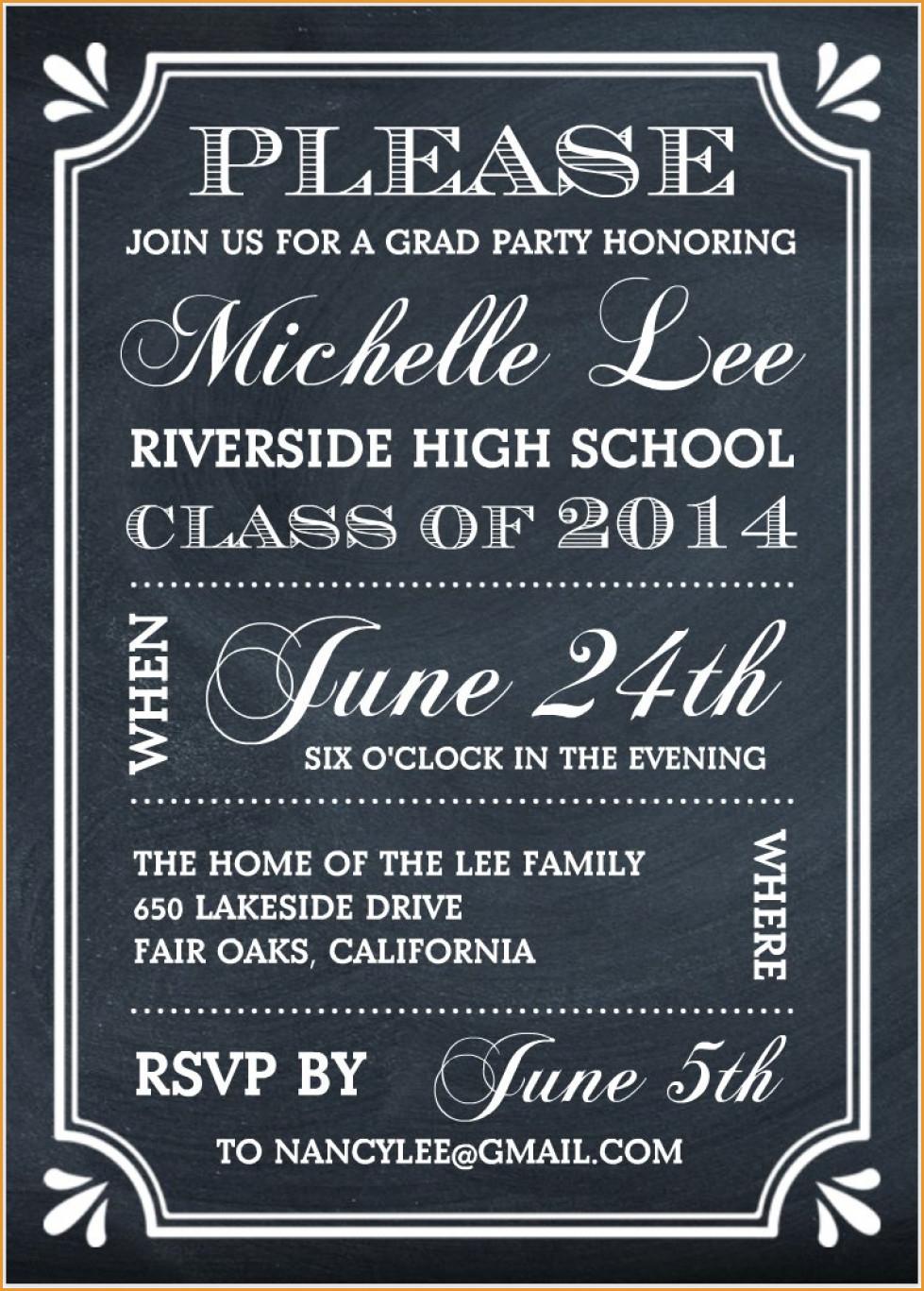 Party Invitations: Elegant Free Graduation Party Invitations Designs - Free Printable Graduation Invitations 2014