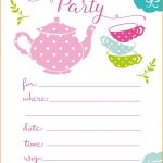 Party Invitations: Tea Party Invitations Tea Party Birthday   Free Printable Polka Dot Birthday Party Invitations