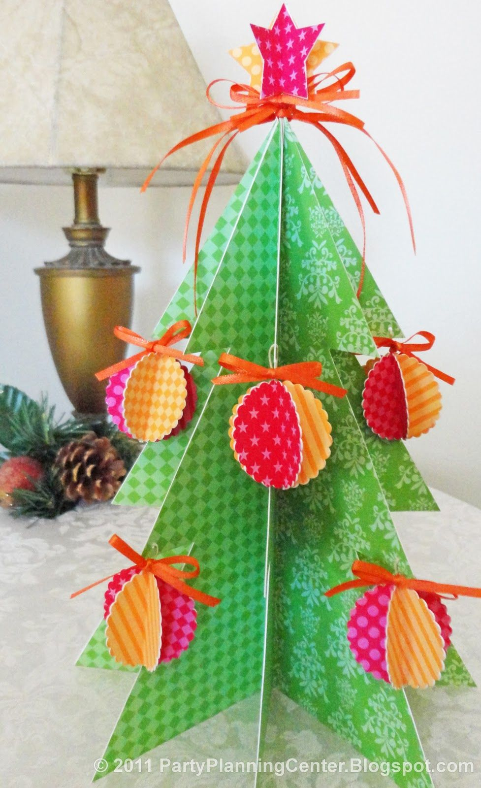 Party Planning Center: Free Printable Paper Christmas Tree And - Free Printable Christmas Ornament Crafts
