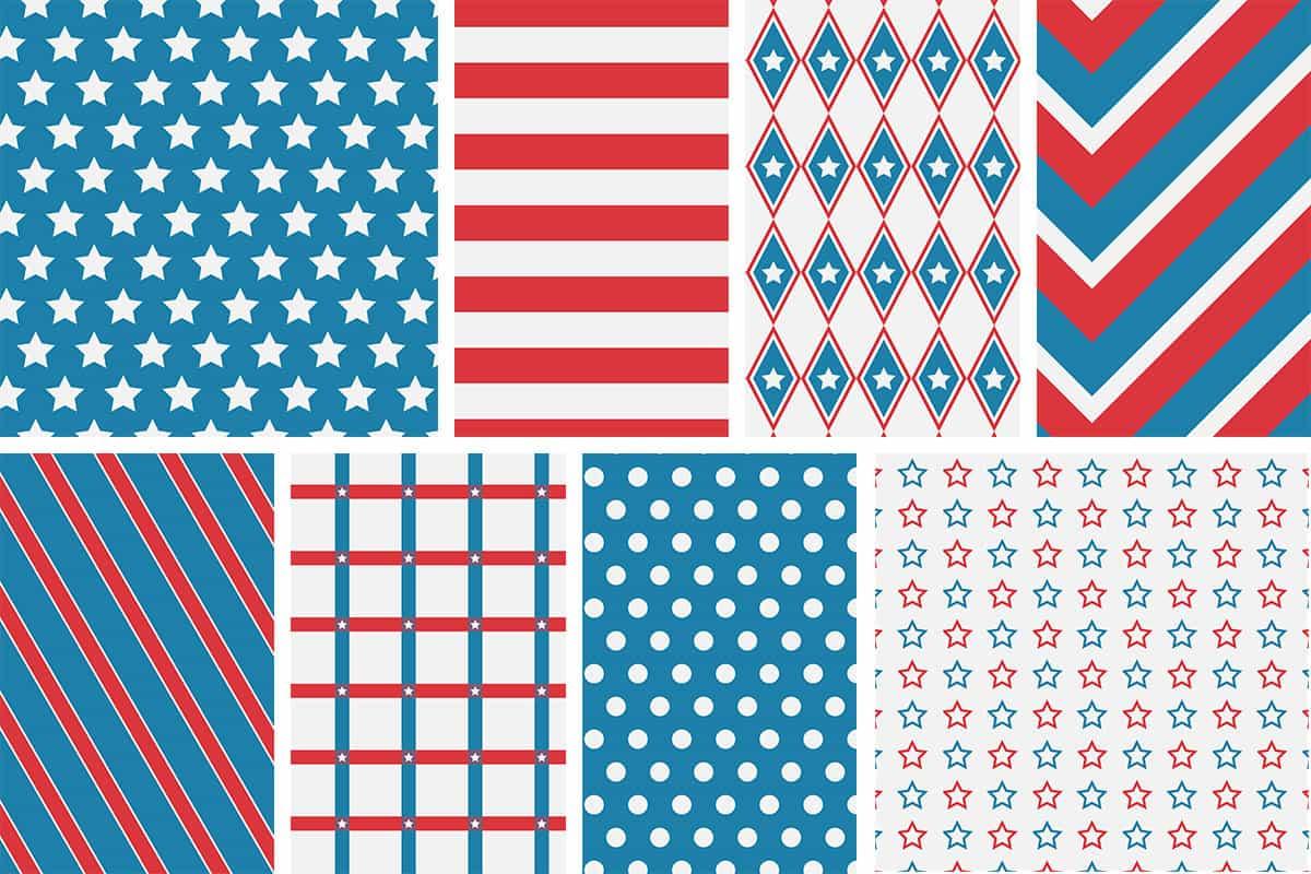 Patriotic 4Th Of July Digital Papers - Love Paper Crafts - Free Printable Patriotic Writing Paper