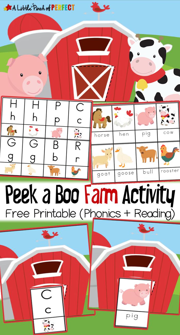 Peek A Boo Farm Animal Activity And Free Printable - - Free Printable Farm Animals