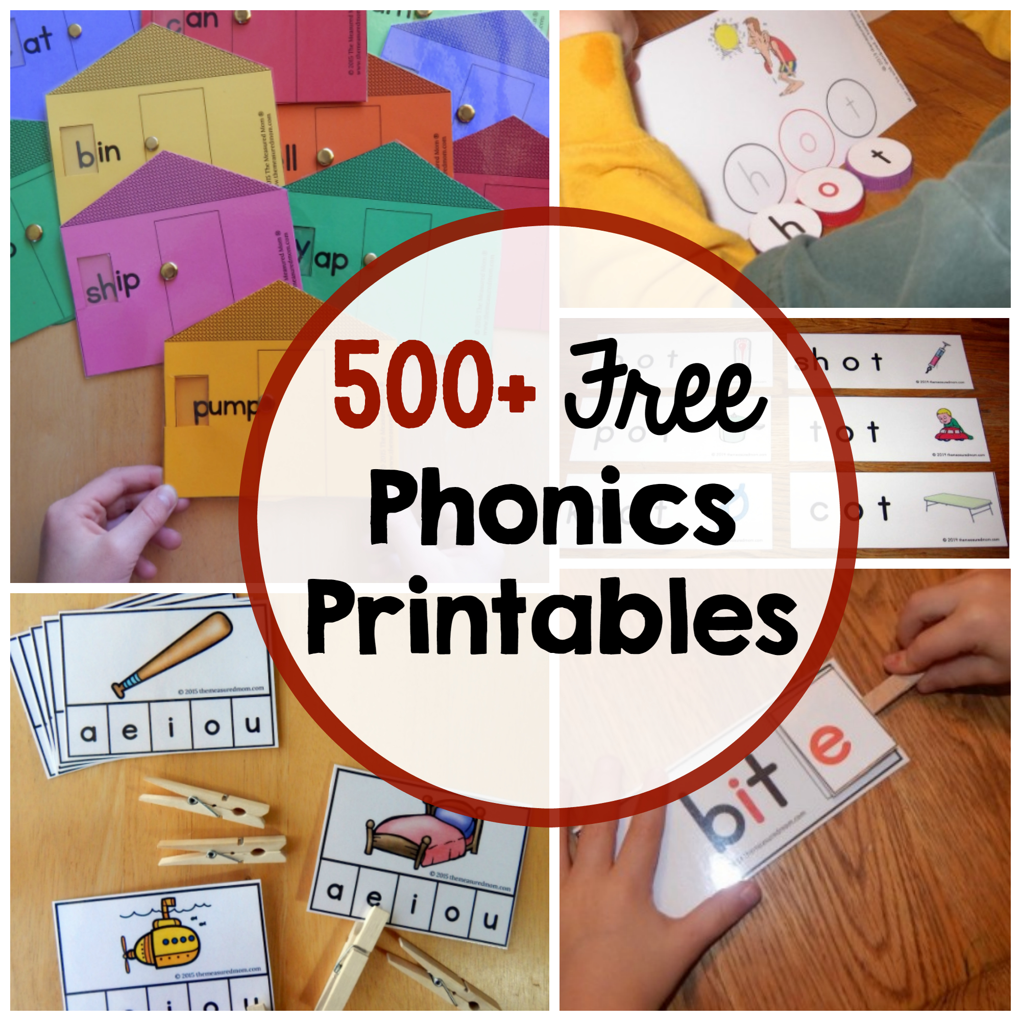 Phonics Activities - The Measured Mom - Phonics Pictures Printable Free