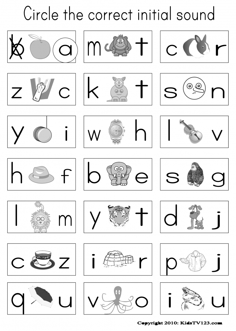 Phonics Worksheets For Kindergarten Free Koogra Wallpapercraft - Phonics Pictures Printable Free