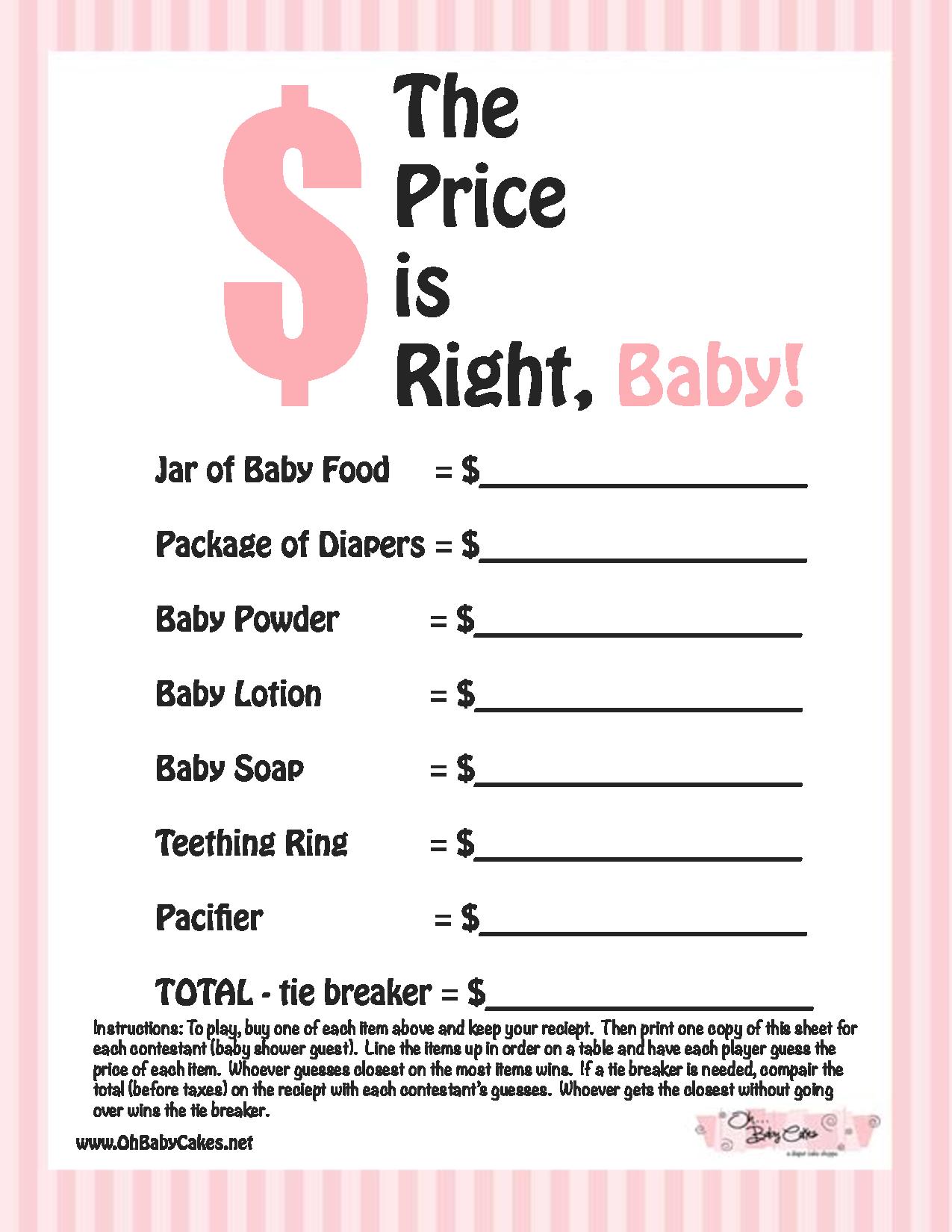 Photo : Baby Shower Poem Printable Image - Free Baby Shower Games Printable Worksheets