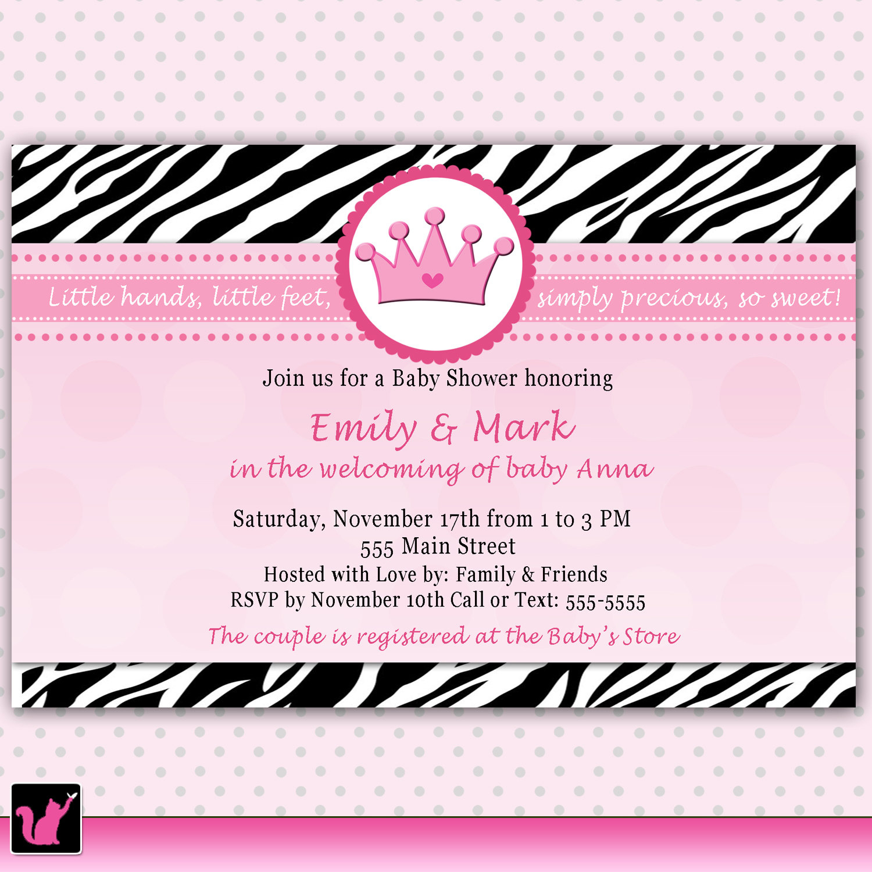 Photo : Baby Zebra Baby Shower Invitations Image - Free Printable Zebra Baby Shower Invitations