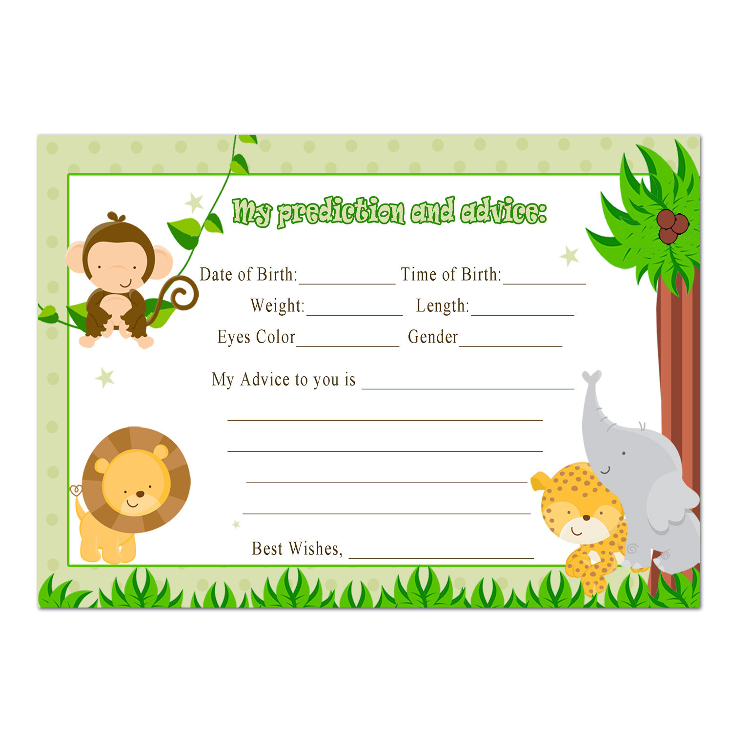 Photo : Popular Items For Jungle Image - Free Printable Lion King Baby Shower Invitations