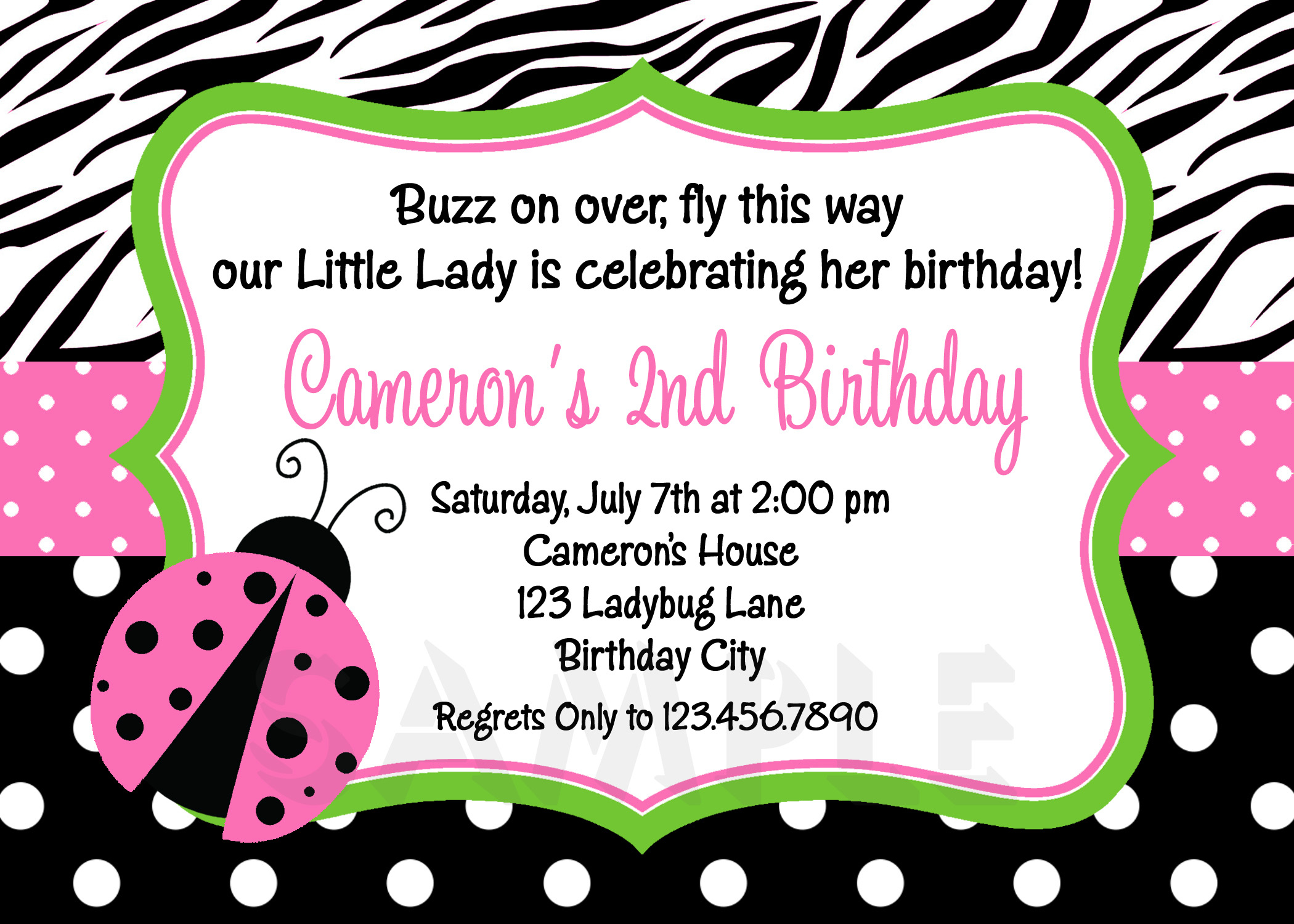 Photo : Print At Home Baby Image - Free Printable Ladybug Baby Shower Invitations Templates