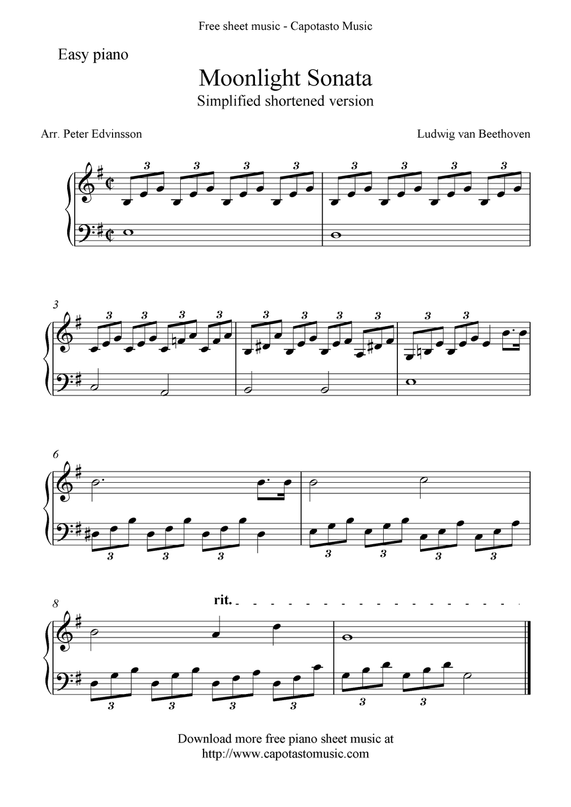 Piano Sheet Music For Beginners | Free Sheet Music Scores: Free Easy - Piano Sheet Music For Beginners Popular Songs Free Printable