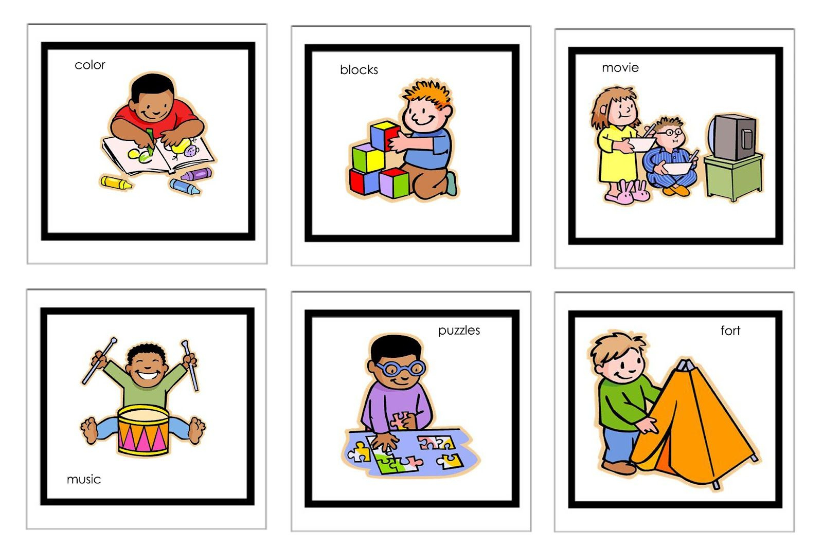 Picture Cards For Nonverbal Children | Free Printable Visual - Free Printable Visual Schedule For Preschool