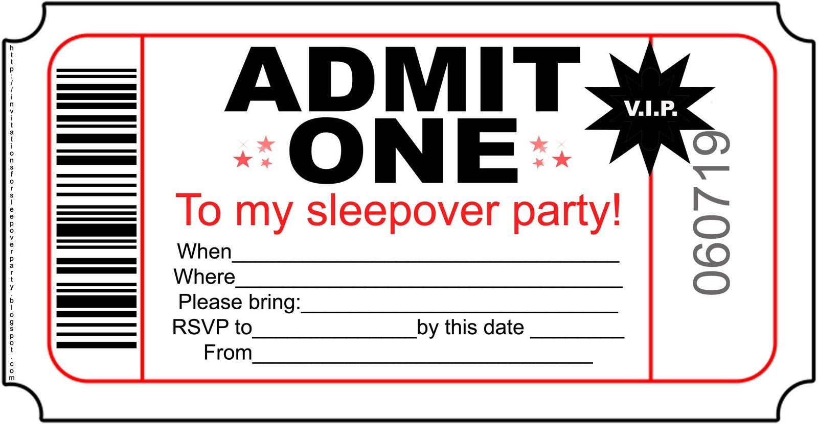 Pictures Of Birthday Invitation Foldables | Free Boys Sleepover - Movie Birthday Party Invitations Free Printable