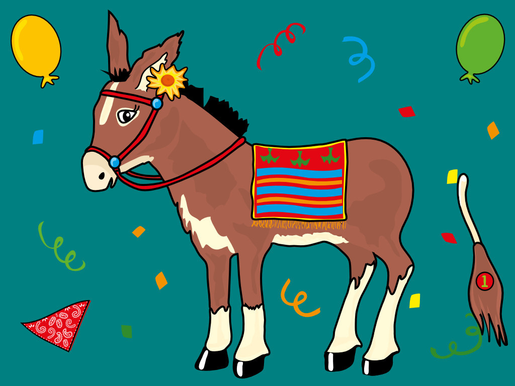 Pin The Tail On The Donkey Drawing At Getdrawings | Free For - Pin The Tail On The Donkey Printable Free