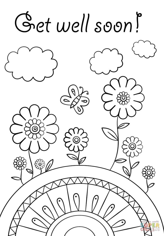 Pinangga Ga On Coloring | Home Decor, Free Printable Coloring - Free Printable Get Well Cards To Color