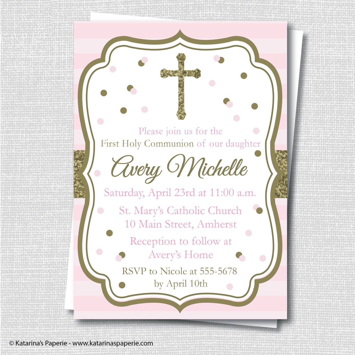 Pinannel On Kiddos | First Communion Invitations, Communion - First Holy Communion Cards Printable Free
