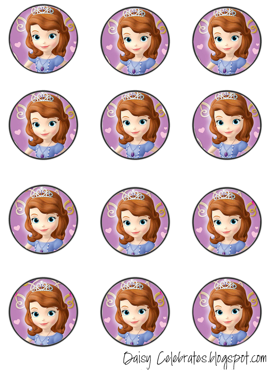 Pincrafty Annabelle On Sofia Printables | Pinterest | Sofia - Sofia The First Cupcake Toppers Free Printable