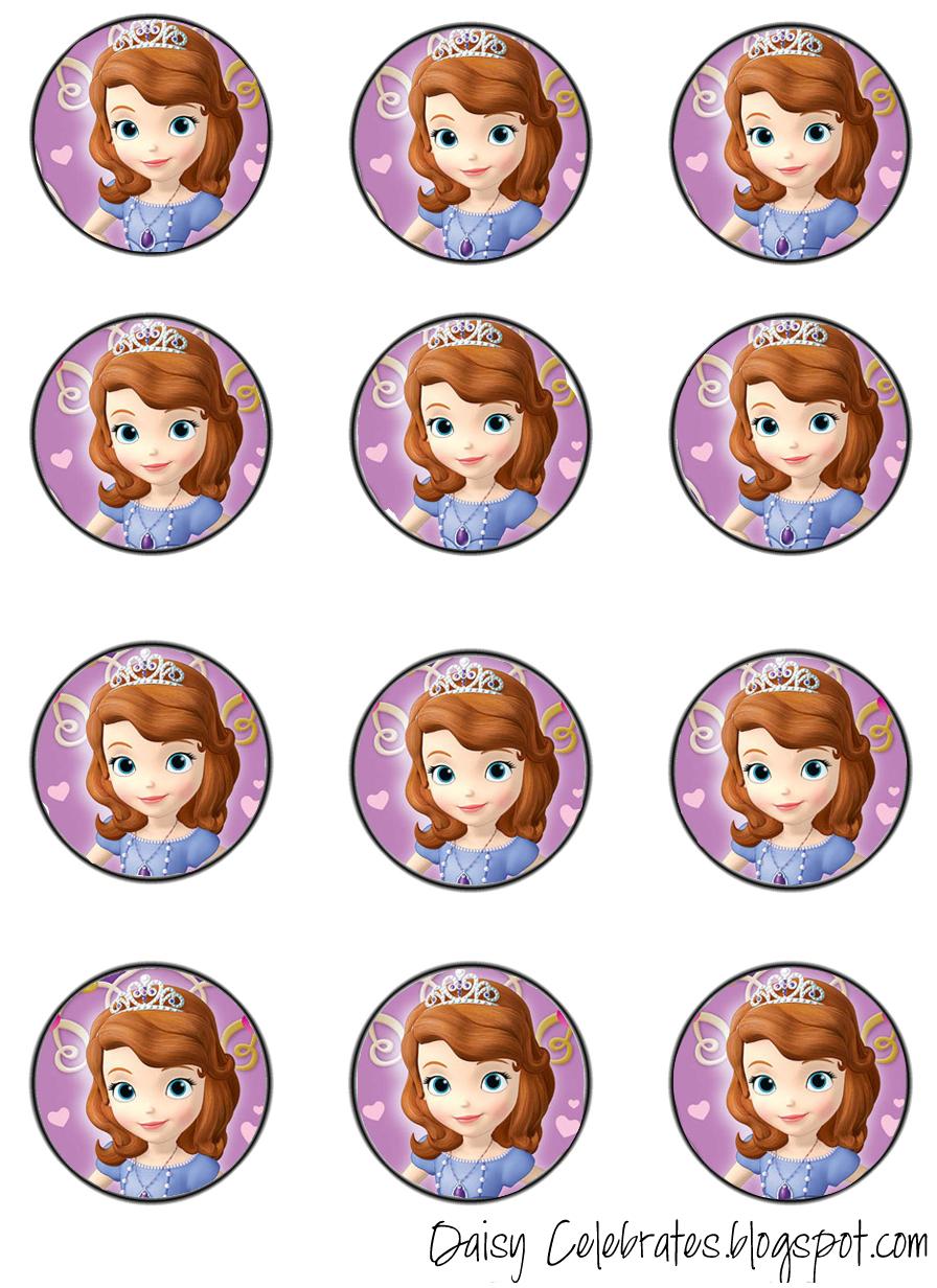 Pincrafty Annabelle On Sofia Printables | Pinterest | Sofia The - Free Printable Sofia Cupcake Toppers