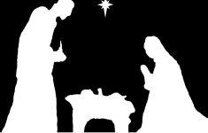 Pindebra Dempsey On Christmas Decorating | Nativity, Christmas – Free Printable Nativity Silhouette