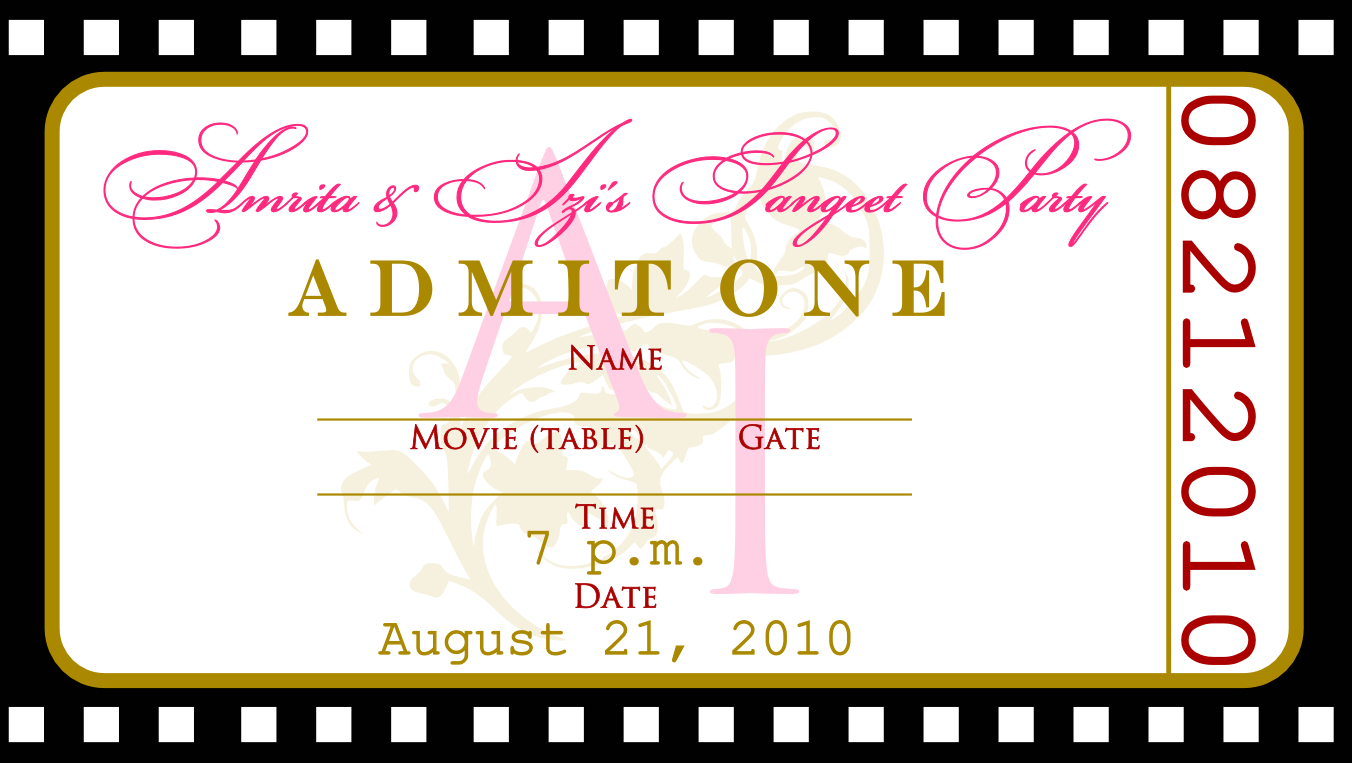 Pindrevio Invitation On Free Printable Birthday Invitation In - Free Printable Ticket Invitation Templates