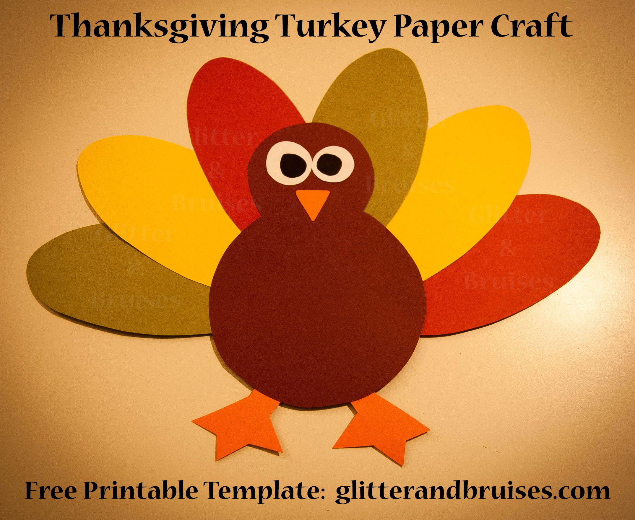 Pinglitter And Bruises On Thanksgiving | Pinterest | Paper - Free Printable Thanksgiving Turkey Template