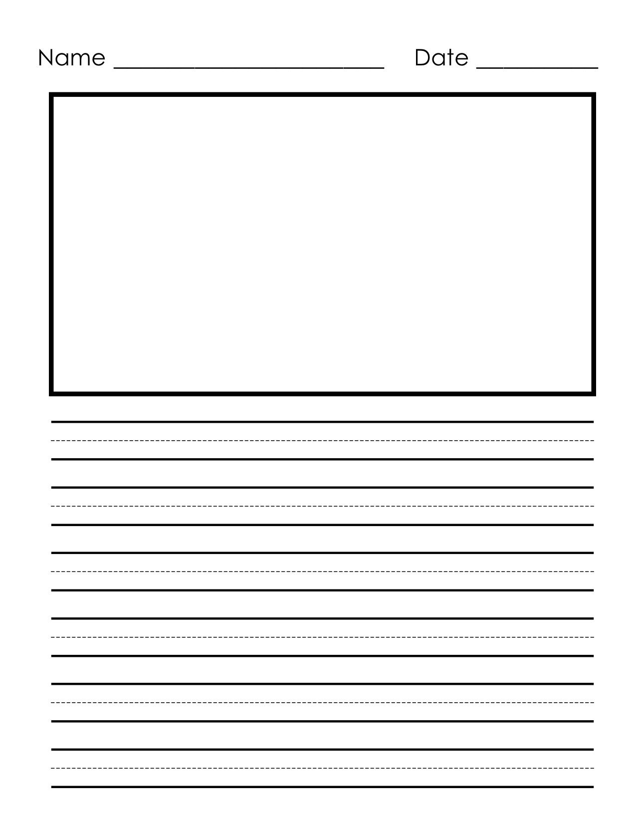 Pinheather Riddle On Home School Resources | Preschool Writing - Free Printable Kindergarten Lined Paper Template