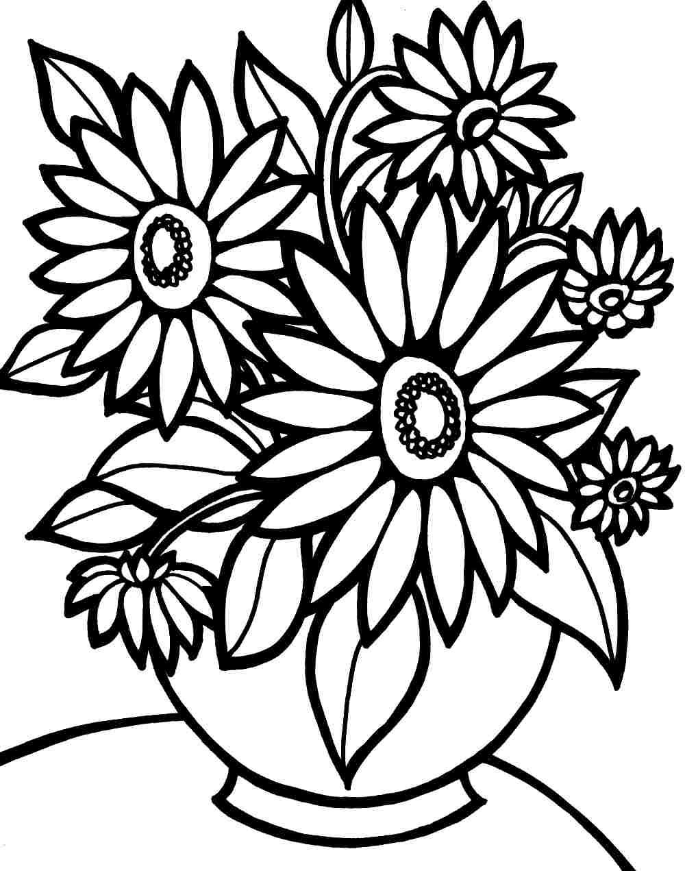 Pinhema On Drawing | Pinterest | Flower Coloring Pages - Free Printable Flower Coloring Pages