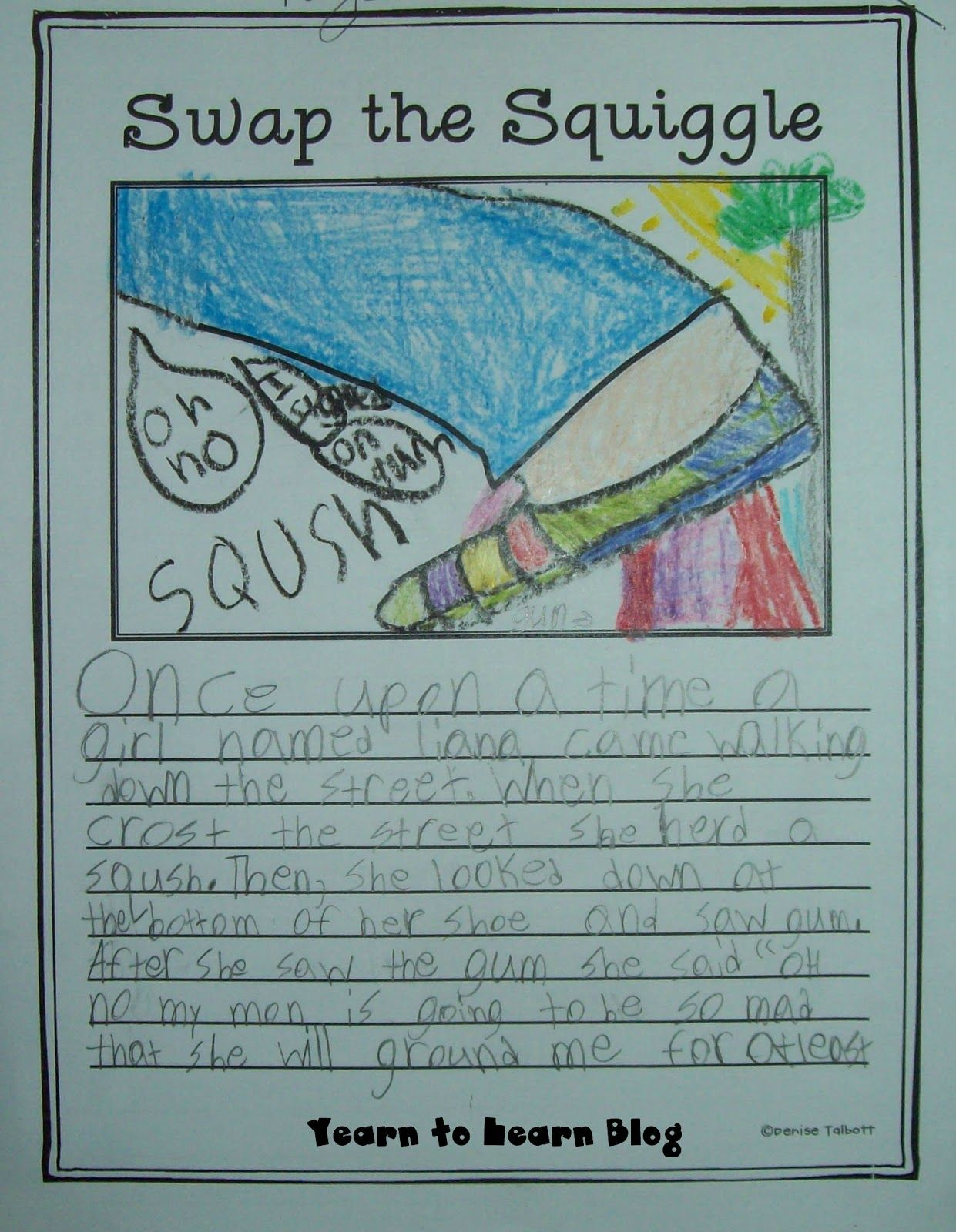 Pinigor Qatar On Aliona | Pinterest | Writing, Teaching Writing - Free Squiggle Story Printable