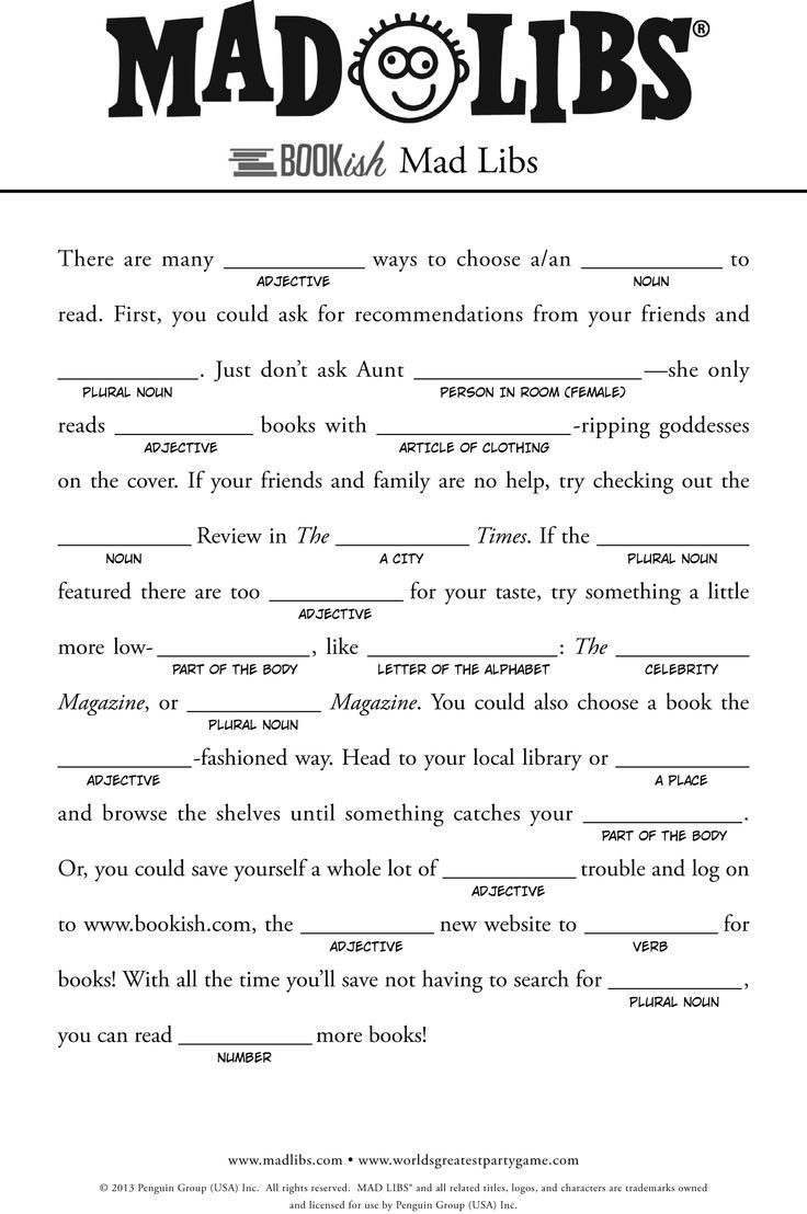 Pinjessica Pyle On Homemade | Pinterest | Free Mad Libs, Mad - Free Printable Mad Libs For Tweens